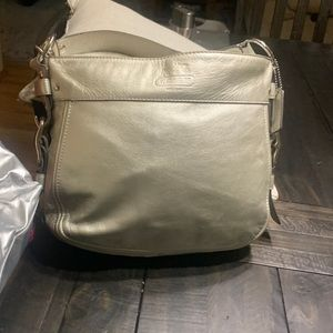 Silver coach bag in great condition!